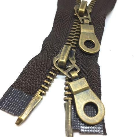ebay zips 2 way antique brass metal zips zippers open end zip