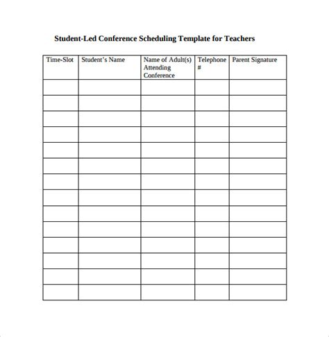 conference template sle conference schedule 16 documents in pdf word