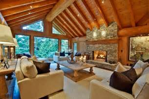 Modern Log Home Interiors Bring Home Some Inviting Warmth With The Winter Cabin Style