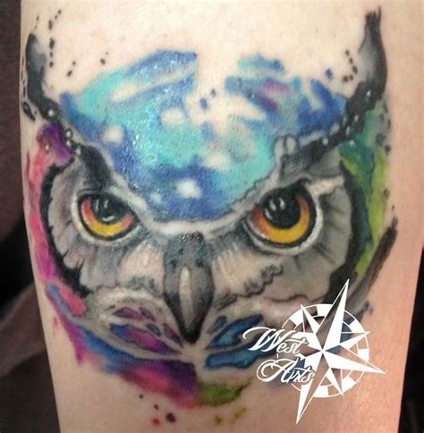 colorful owl tattoos 1000 ideas about colorful owl on