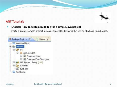 Construct 2 Tutorial Engine Cd tutorial to develop build files using ant