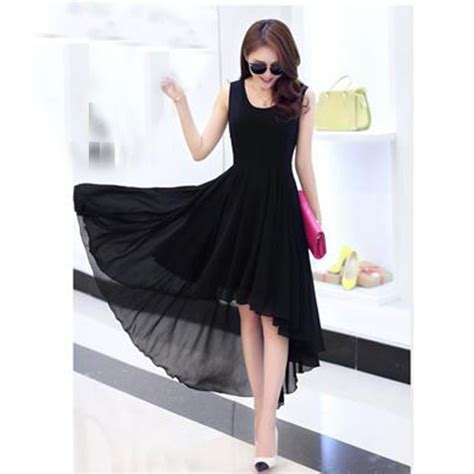 Dress Pakaian Terusan Wanita Black Dress Chiffon L 318849 dress wanita chiffon dovetail style size m black jakartanotebook