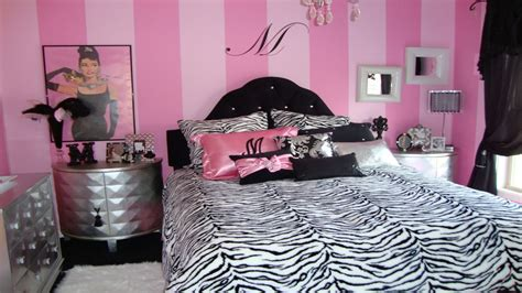zebra print teenage bedroom ideas small bedrooms with double beds pink zebra girl bedroom