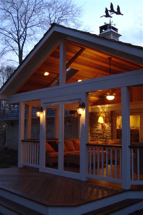 Open Gable Roof With A High Open Gable Roof This Covered Porch Will Be A