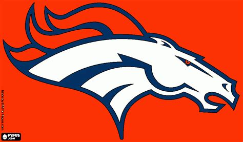 denver broncos logo coloring pages auto design tech