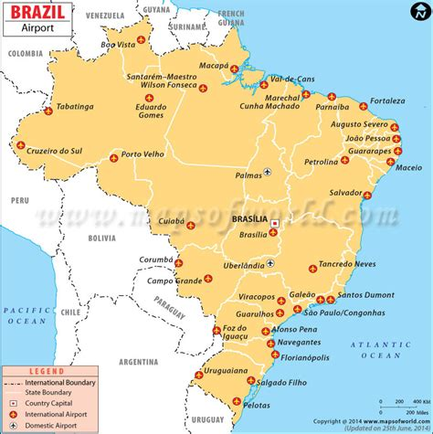 us map showing major airports airports in brazil maps brazil tourist