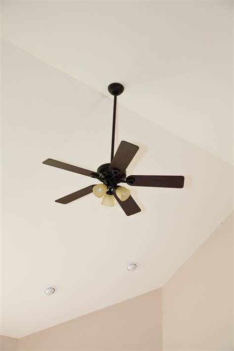 ceiling fans for sloped ceilings ceiling fan on vaulted ceiling lighting and ceiling fans