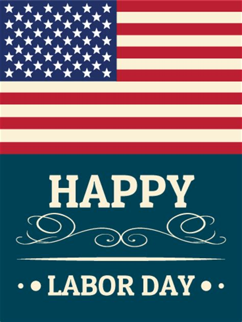 Happy Labor Day by Happy Labor Day Card Birthday Greeting Cards By Davia