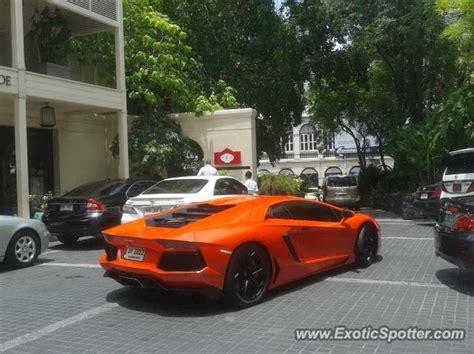 Lamborghini Price In Thailand Lamborghini Aventador Spotted In Bangkok Thailand On 07