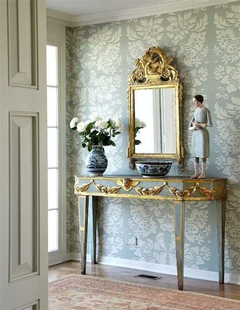 foyer wallpaper weekends at home a statement entryway house of