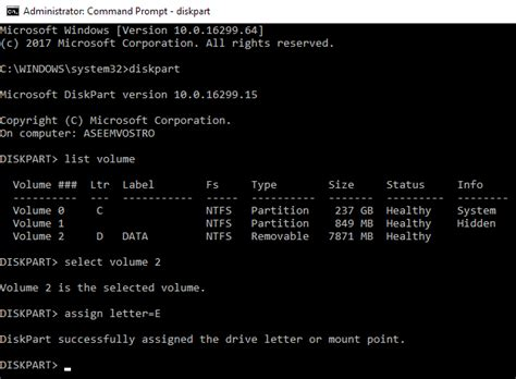 diskpart format and assign drive letter how to change a drive letter in windows