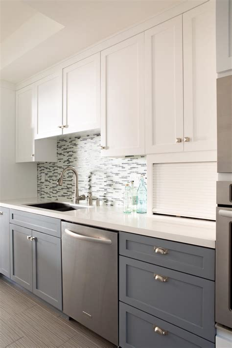 two tone grey kitchen cabinets photos hgtv