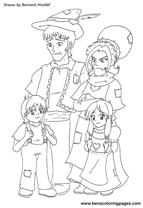 free hansel and gretel coloring pages