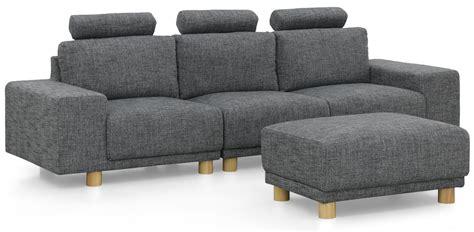 3 seater sofa with ottoman 3 seater sofa with ottoman fabric grey furniture