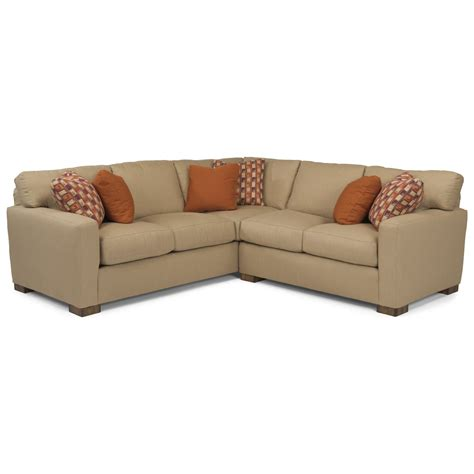 flex steel sectional flexsteel bryant contemporary 4 seat sectional sofa dunk