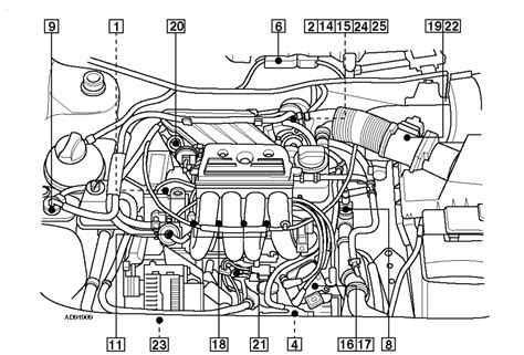 2001 vw beetle engine diagram volkswagen new beetle 2 0 engine diagram get free image