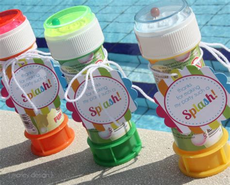 Pool Party Giveaways - instant download pool party favor tags birthday printables splish splash summer thank
