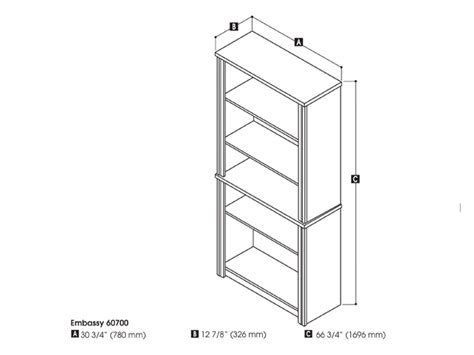 Book Shelf Dimensions by Embassy Modular Bookcase In Cappuccino Cherry
