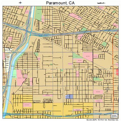 paramount california map paramount california map 0655618