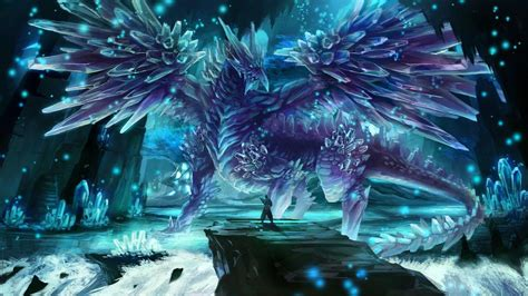 computer crystal themes ice dragon wallpapers wallpaper cave