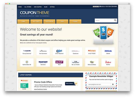 coupon site template coupon website template microsoft powerpoint templates