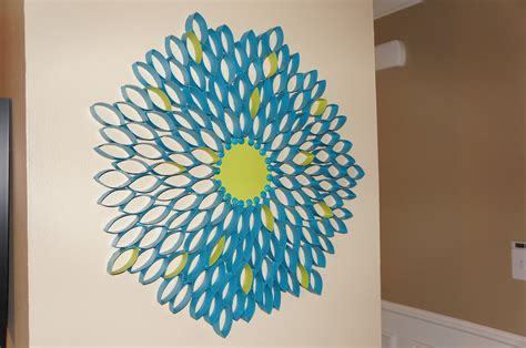 Paper And Craft - toilet paper roll flower so pretty in paint