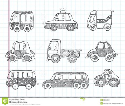 doodle car doodle transport car icons stock photography image 32022912