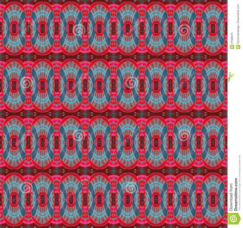 seamless pattern pale gray turquoise curls seamless ellipses pattern red brown turquoise blue stock