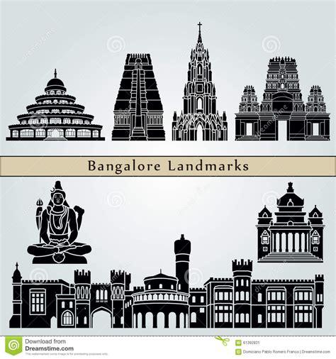 Vidhana Soudha Outline by Bangalore Landmarks Stock Vector Image 61392831
