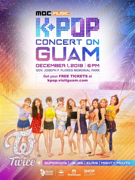 twice guam twice concert in guam free k pop music festival at ypao