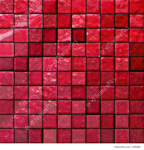 Texture: Abstract Bathroom's Tiles Red   Stock