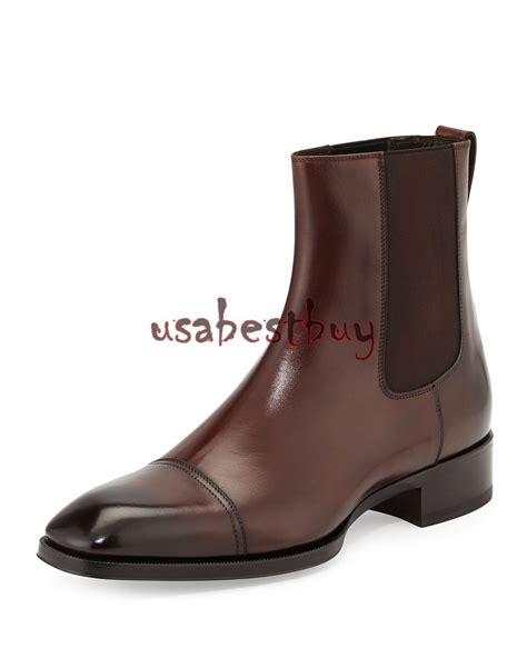 Handcrafted Leather Boots - new handmade custom stylish brown leather chelsea boots