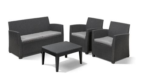 allibert salon de jardin 2831 allibert corona lounge set graphite allibert