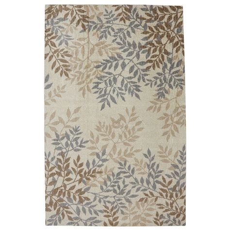 mohawk home waterloo leaves beige 5 ft x 8 ft area rug