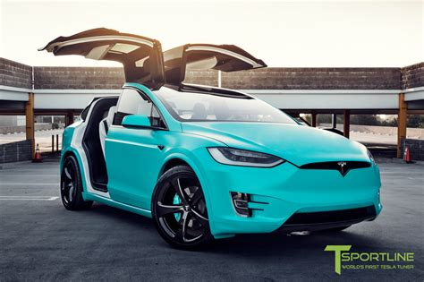 suv tesla blue tiffany inspired tesla model x up for auction on ebay