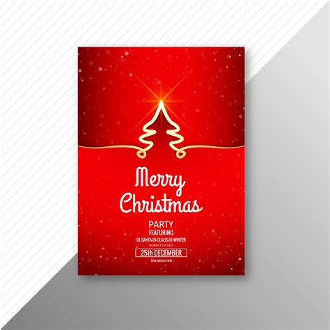 merry christmas celebration card brochure template background   vectors clipart