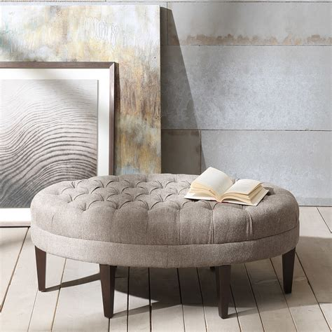 oval tufted ottoman corrigan studio keats button tufted oval ottoman reviews