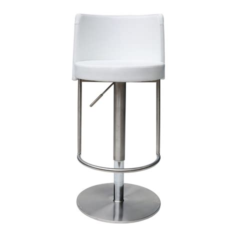 white adjustable counter stools bowery white adjustable height swivel bar stool bromi design