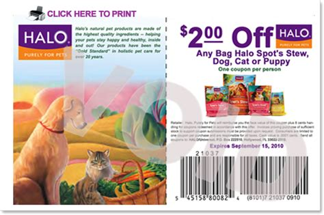 halo cat food printable coupons your august halo coupons are here all dog blog