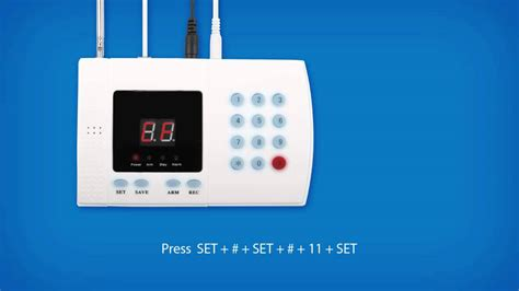 home alarm vahx password message recording en doovi