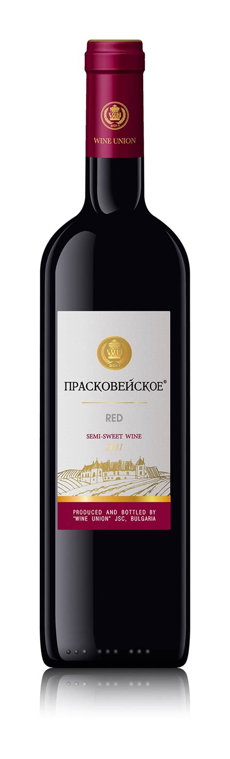 semi sweet red wine praskoveyskoe high quality