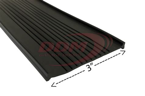 Garage Door Astragal by Bottom Quot T Quot U Shaped Astragal 3 Quot Black Vinyl Part Bitv 300b