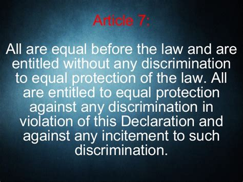 section 7 human rights act the universal declaration of human rights articles 1 to 10