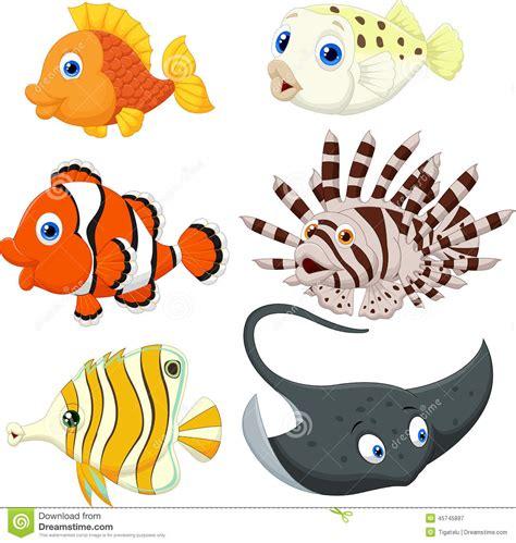cartoon vis tattoo tropical fish cartoon stock vector image 45745897