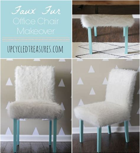 faux fur backless office chair whimsical faux fur office chair makeover chairs chair