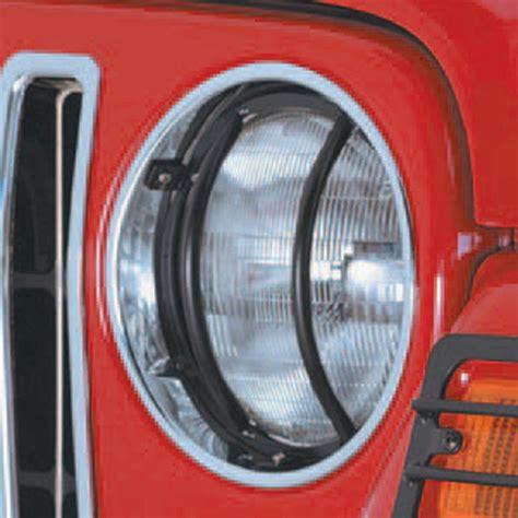 1997 Jeep Wrangler Headlights Black Headlight Guards 1997 2006 Jeep Wrangler Tj Ebay