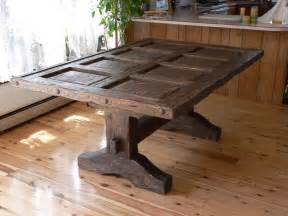 custom southwest distressed dining room table with glass