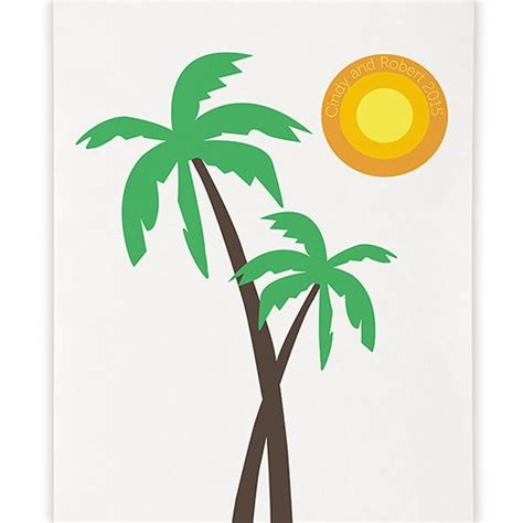 wedding photo backdrop banner palm trees banner personalized photo backdrop the knot shop