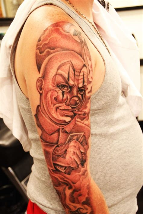 clowning mr cartoon tattoos pinterest