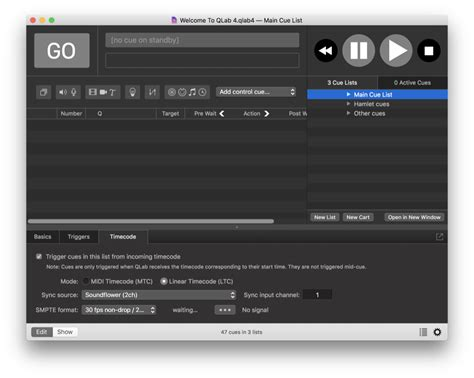 video format qlab f53 qlab using timecode to control qlab